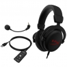 Headset HyperX Cloud Core 7.1 Cableado Negro/ rojo