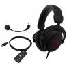 Headset HyperX Cloud Core 7.1 Cableado Negro/ rojo