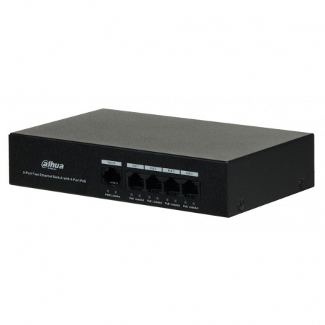 Switch Dahua 4 puertos Ethernet / PoE 1 Gbps