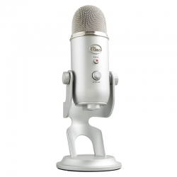 Micrófonos Logitech Yeti Cardioide USB Plata