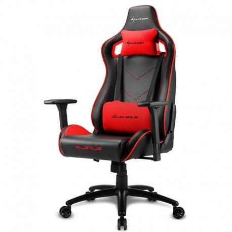 Silla Sharkoon Elbrus 2 Gaming Color Negro/rojo