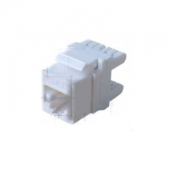 Jack Teklink Cat 6A 180° color blanco