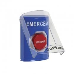 Botón de emergencia STI en Español Alámbrico