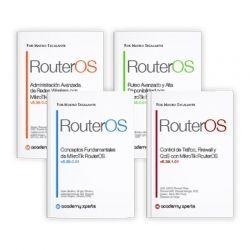 Paquete promocional de los 4 libros MikroTik R OS