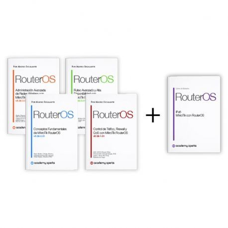 Paq Promo 4 libros MikroTik RouterOS + Libro IPv6