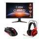 Combo MSI Monitor MAG270VC2 27' mouse y headsets