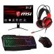 Combo MSI Monitor MAG321CQR mouse, headset teclado