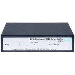 Switch HPE JH327A 5p GigaE PoE Dúplex 10Gb Capa 2