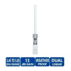 Antena Ubiquiti AMO-5G13 5 GHz 13 dBi y MIMO 2x2