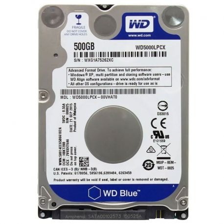 Disco Interno Western Digital Blue 500GB 2.5