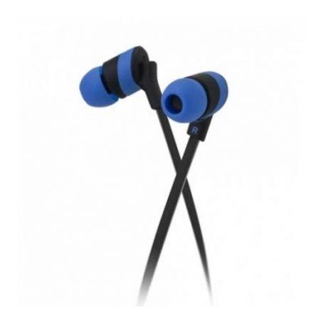 Audífonos kolorBudz Alámbricos 3.5 mm Azul y Negro