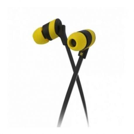 Audífonos KolorBudz Alámbricos 3.5 mm amarillo