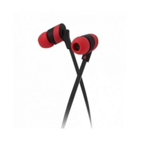 Audífonos KolorBudz 3.5mm Negro y Rojo