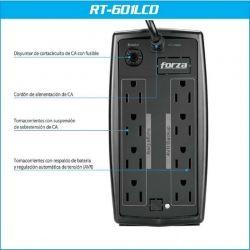 Batería Forza RT-601 LCD 600VA/360W 115V 8 Tomas