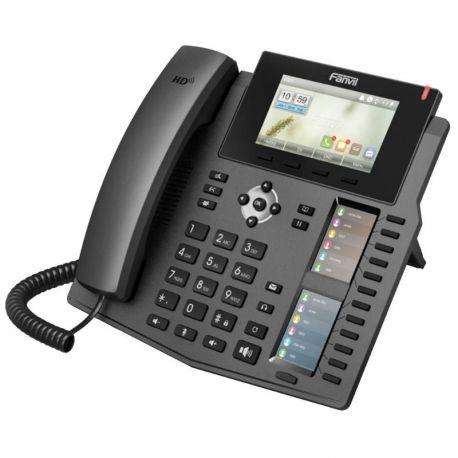 Teléfono IP Fanvil X6 6 Líneas SIP 3 Pantallas