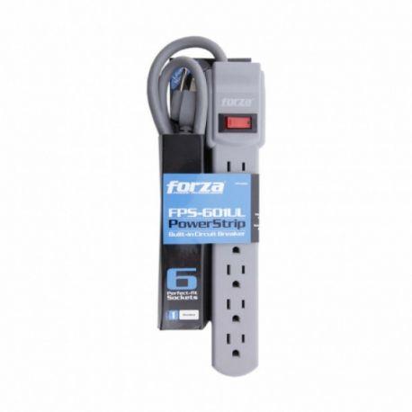 Regleta Forza FSP-601UL 1875W 110 VCA 6NEMA 5-15R