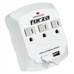 Tomacorriente Forza FWT-730USB 6500A/1875W Pared