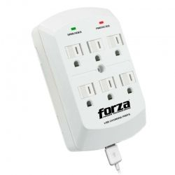 Regleta Forza FWT-760USB 1875W 15A 2 USB de carga