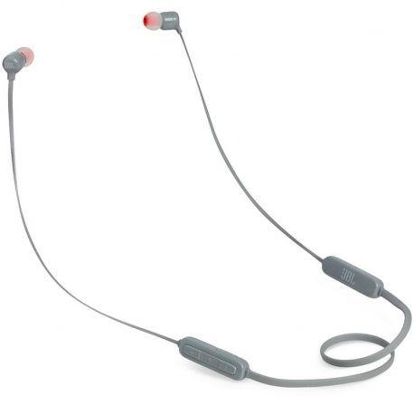 Audífonos JBL T110Bt Cable Plano Bluetooth Gris