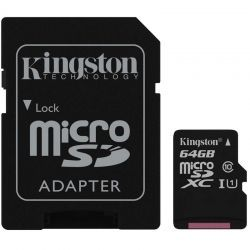 Memoria micro SD Kingston SDCS/64GB 64GB 80MB/s