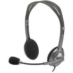 Headsets Logitech Gamer 3.5 mm Negro