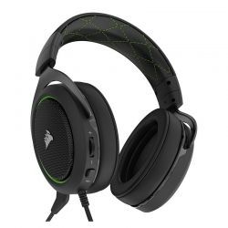 Audífonos Corsair Gaming Hs50 3.5 mm Negro/Verde