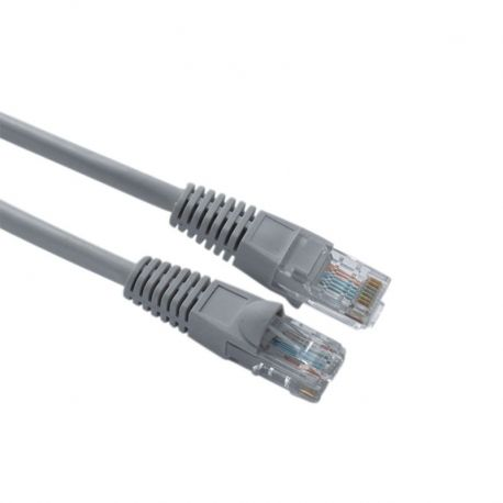 Patch Cord NEWLINK NEW-15801GY Cat5E 1 Ft Gris