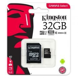 Tarjeta Micro SD Kingston Canvas Select 32GB 80MB