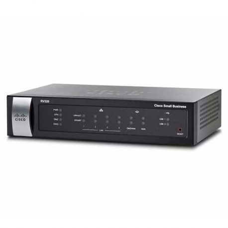 Router CISCO Rv320 Dual 4p GigaE 2p WAN 1p USB