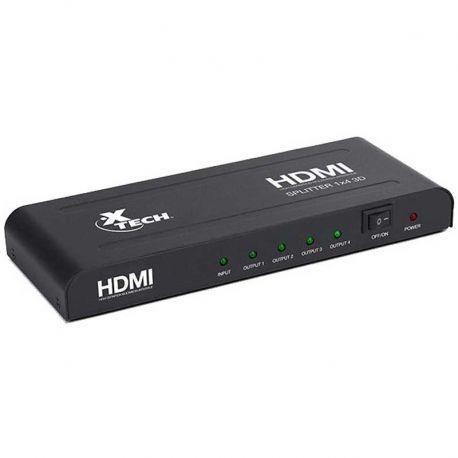 Splitter 1 a 4 HDMI Xtech XHA-410 1920x1080p 3D