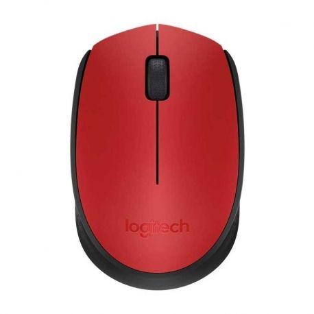 Mouse Logitech M170 Diestro y Zurdo 2.4 GHz Rojo