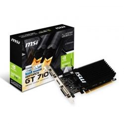 Tarjeta de Video MSI GT-710 1GB DDR3 PCIe DVI HDMI