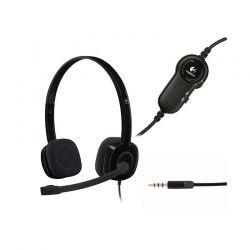 Audífonos Logitech H151 estéreo 3.5 mm Negro