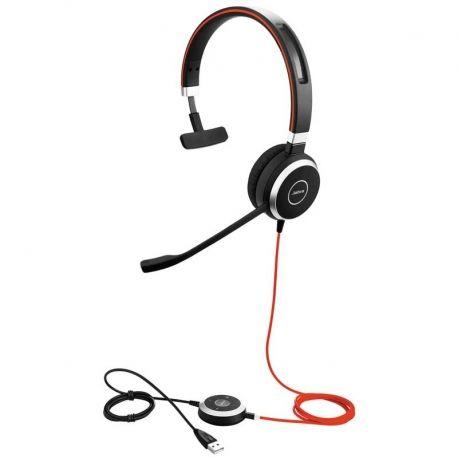 Audífonos Jabra Evolve 40 Ms Mono USB Negro