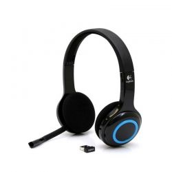 Headsets Logitech Wireless Headset USB Negro