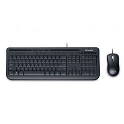 Teclado y Mouse Microsoft Wired 600 USB Negro