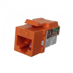 Jack RJ45 NEWLINK 3667705 Cat6A Naranja 650 MHz