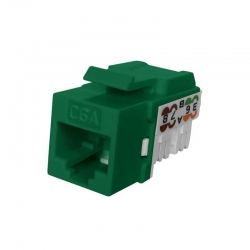 Jack RJ45 NEWLINK NEW-3667707 Cat6A Verde 650 MHz