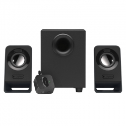 Parlante Logitech Pc 3.5 mm altavoces 2.1 Negro