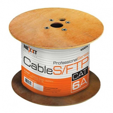 Carrucha de Cable STP Nexxt Solutions Cat6A-Gris