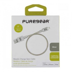 Cable De Datos PureGear USB 22.9cm Color Plata