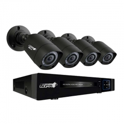 Kit Logan LX441BN-S13 DVR 4CH 4 Cámaras 720p 3.6mm