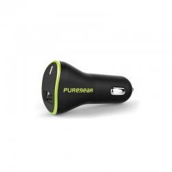 Adaptador Corriente Carro PureGear (USB) Negro