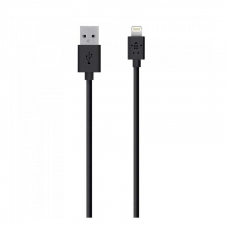 Cable De Carga Belkin USB 1.22 m Negro Apple