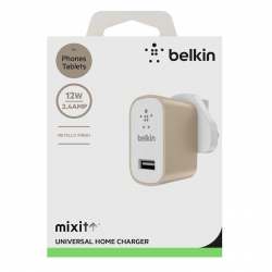 Adaptador Corriente Belkin 2.4 A USB Oro (F8M731d)