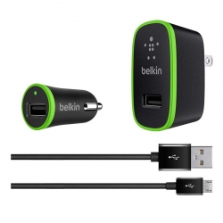 Kit De Adaptadores Carro Belkin USB 12 Vatios 2.4A