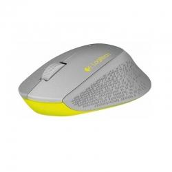 Mouse Logitech 3 botones-inalámbrico USB Gris