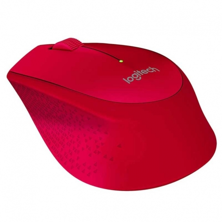 Mouse Logitech M280 Óptico Diestro 2.4 GHz Rojo