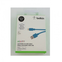 Cable USB Belkin Para Apple 2M Azul(F8J023bt2M)