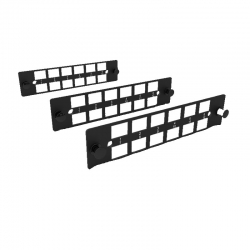 Tablero De Conexiones Furukawa Negro(Paquete De 3)